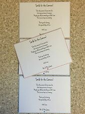 10 Wedding Camera Poems Cards  - Any Colour - Personalised - A6