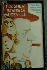 Great Stars Of Vaudeville:Jolson, Fields, Cantor, Durante...(Cassette, 1988) NEW