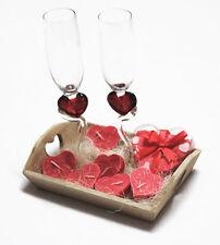 10-teiliges Badeset/Geschenkset auf Holztablett Valentinstag Geburtstag