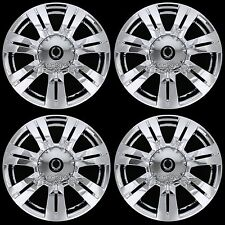 "4 CHROME 2010-15 Cadillac SRX 18"" Full Wheel Skins Hub Caps & Center Rim Covers"