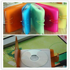 12pcs CD DVD Disc Fashion Double Sleeve Holder Pack Clear Storage Bag Cover Chic