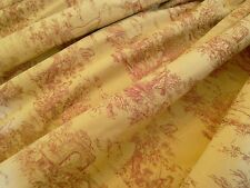 LAURA ASHLEY toile de jouy MADE TO MEASURE interlined CURTAINS made by L ashley
