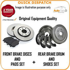 4411 FRONT BRAKE DISCS & PADS AND REAR DRUMS & SHOES FOR FIAT PUNTO 1.9 JTD 10/1