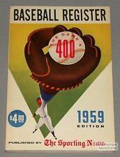Rare 1959 Sporting News Baseball Register Guide