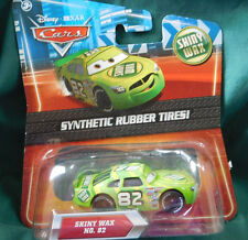 """Disney Cars Diecast Exclusive """"SHINY WAX""""  NO. 82 Synthetic Rubber Tires 2010"""