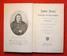 """Kerner-Justinus Kerners Briefwechsel mit seinen Freunden-2 Bd´e- """"EA"""" 1897"""