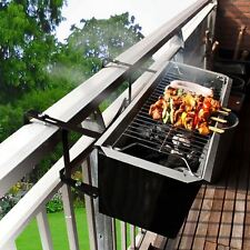 BALCONE Barbecue Portatile Carbone Space Saver da appendere BARBECUE GRILL