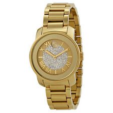 Movado Bold Gold Pave Dial Stainless Steel Ladies Watch 3600255