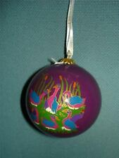Dillards 12 Days of Christmas Ornament Inside Painted Glass MIB 6 Geese a Laying