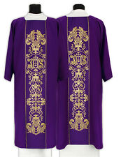 Purple Gothic Dalmatic with matching deacon stole D044-F us
