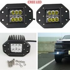 2x CREE Spot Offroad Driving Work Reverse LED Light BAR 4WD SUV Waterproof