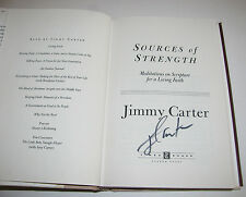 "JIMMY CARTER ""Sources of Strength"" Former President Autographed /Signed Book 1st"