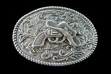 Western Gun Hat Belt Buckle Cowboys Cowgirls Rodeo Boucle de Ceinture