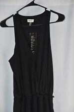 DKNYC Womens Medium Black Sleeveless Loose Fit Pant Suit Romper One Piece NEW