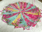 Oil Cloth Bunting Wedding Vintage Shabby & Chic Handmade Floral 10ft/40ft