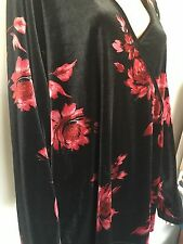 Plus Size 26/28 Lane Bryant Designer Fashion Floral Velvet Hip Chic Gift Trendy
