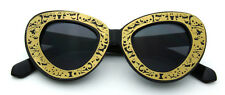 Women Vintage Sunglasses Round Gold Retro Designer Fashion