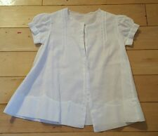VINTAGE ~ 1950's ~  BABY'S ~ HAND SEWN WHITE COTTON BUTTONED DRESS NIGHTIE
