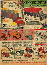 1966 PAPER AD Structo Tonka Truck Giant Marx Mattel James Bond 007 Camera