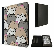 FUN GATTI COLLAGE schizzo Multi CATS flip cover per Kindle Paperwhite 6""