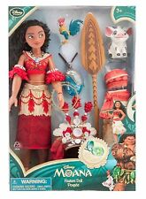 New DisneyStore Moana Singing Feature Doll Set - 11'' w/ Clothing & Accessories