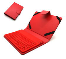 Universal Tasche Case mit Bluetooth Tastatur für 7 - 8 Zoll Tablet PC   Rot