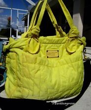 MARC by MARC JACOBS YELLOW MONOGRAM WORKWEAR CROSSBODY TOTE BAG CARRY ALL