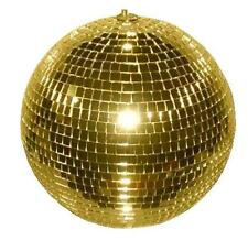 HUGE 12 INCH GOLD MIRROR DISCO BALL party supplies reflection mirrors dj novelty