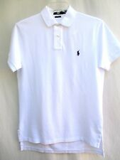 POLO RALPH LAUREN..WHITE..COTTON MESH PIQUE..POLO SHIRT..PONY.NEW ($85) sz M