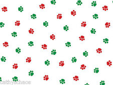 35 Christmas Paws Cat Dog Paw Print Cellophane Candy Gift Treat Cello Bags 5x11""