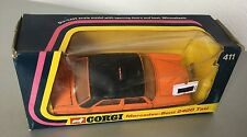 1975 VINTAGE#CORGI TOYS MERCEDES BENZ 240 D ORANGE TAXI # 411#NIB