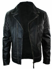 Men's Motorcycle Brando Black Bikers Punk Vintage Leather Jacket