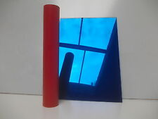 ACRYLIC MIRROR SHEET PLASTIC  PERSPEX PLEXIGLASS SAFETY BLUE 100mm x 100mm