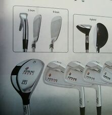 sterling single length irons 5-sw+gw choice of shafts and grips. game changing!!