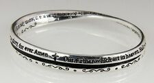 4030617 Christian Lord's Prayer Our Father Twisted Bangle Bracelet Jesus Bible
