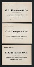New Sharon Maine Vintage Business Card C A Thompson & Co Manufacturers/ Lot Of 3