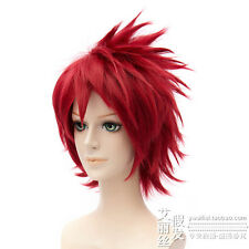 NARUTO Akasuna no Sasori short Anime Cosplay Costume Wig +Wig CAP Free Ship