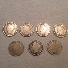 Set Of 7- 1908 Victory Nickels