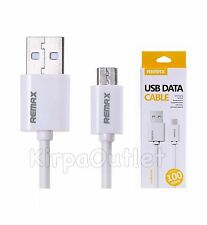 Genuine REMAX Full Speed Micro USB 2.0 Fast Quick Sync Data Charging Cable White