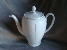 ROSENTHAL TEA POT WITH SILVER TRIM AND WHITE INLAY