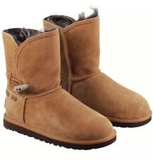NIB UGG Australia Chestnut Brown Meadow Faux Fur Suede Boot Size 9 Or 10 $250
