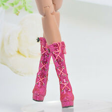 "Sherry Sequins Magenta Shoes  boots  for 16"" Ellowyne wilde Doll Clothing 7ES57"