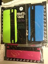 30 x Wrap Around Pencil Case Fits A5 note books 10x Green, 10 Pink, 10 Blue
