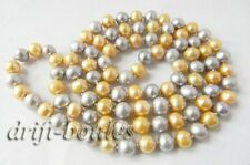 32'' Gray Champagne Round Freshwater Pearl Necklace