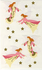 Mrs. Grossman's Giant Stickers - Angels in Pink & Ecru w/ Gold Stars - 2 Strips