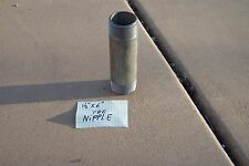 """NIPPLE, TBE, 1-1/2"""" X 6"""" STAINLESS STEEL, npt, sched 40, pipe fitting n.p.t."""
