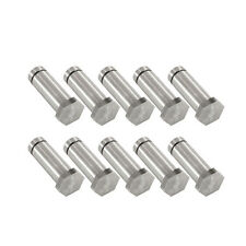 "Set of Ten 1"" Hex Top Tattoo Machine Coil Cores Polished Fatty 5/16"" Steel Parts"