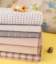 Dye-Yarn Patchwork Quilting Fabric Rustic Primitive Farmhouse Bundle Light Beige