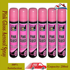 New 6 X 250ml All Purpose Aerosol Pink Gloss Interior & Exterior Spray Paint