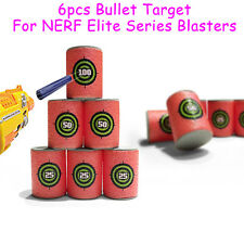 6 x Soft EVA Bullet Target Toy Gun Shoot Dart For NERF N-Strike Blaster Kids Toy